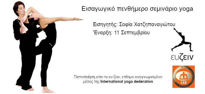 εισαγωγικό σεμινάριο yoga